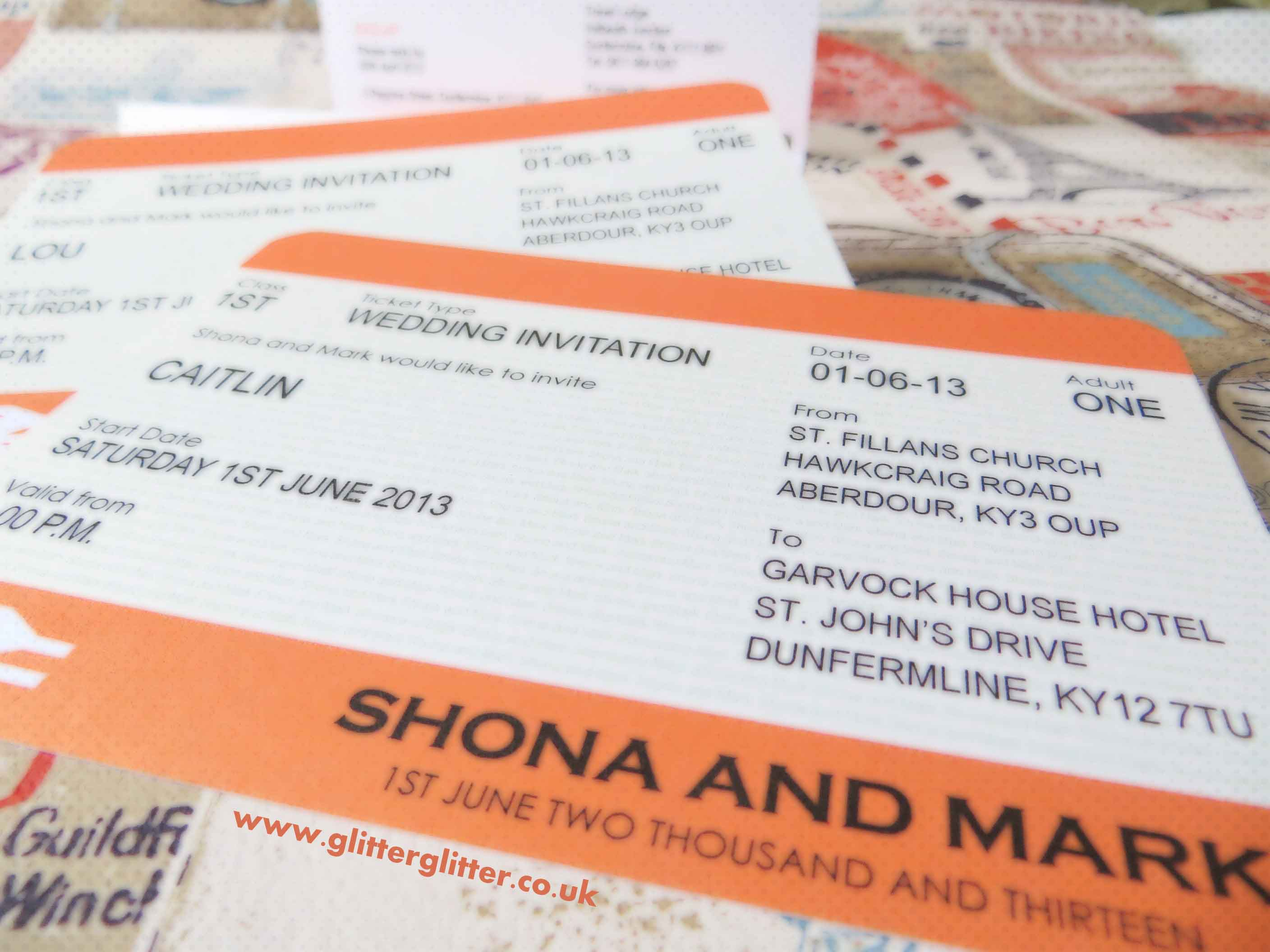 Train Ticket Wedding Invitations Image collections - Party ...